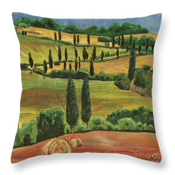 Tuscan Dream 1 Throw Pillow by Debbie DeWitt