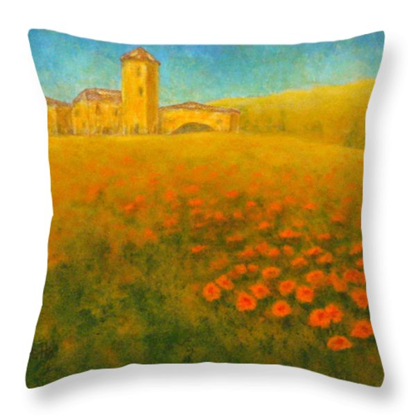 Tuscan Gold 1 Throw Pillow by Pamela Allegretto