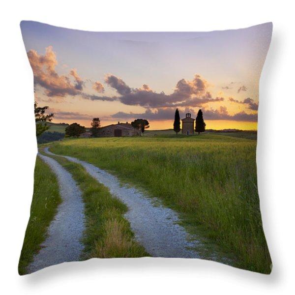 Tuscan Sunset Throw Pillow by Brian Jannsen