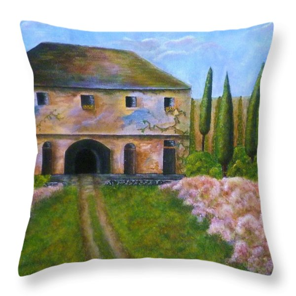 Tuscan Villa Throw Pillow by Tamyra Crossley