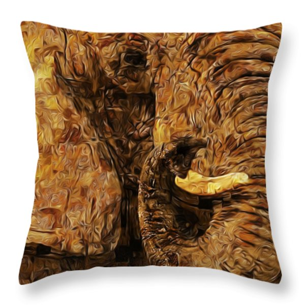 Tusk - Happened At The Zoo Throw Pillow by Jack Zulli