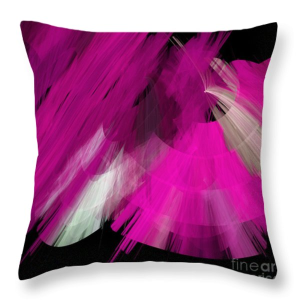 TuTu Stage Left Abstract Fuchsia Throw Pillow by Andee Design