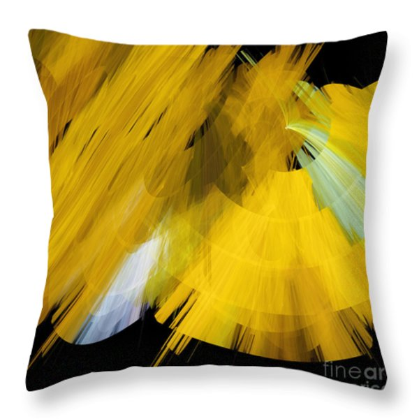 TuTu Stage Left Abstract Yellow Throw Pillow by Andee Design