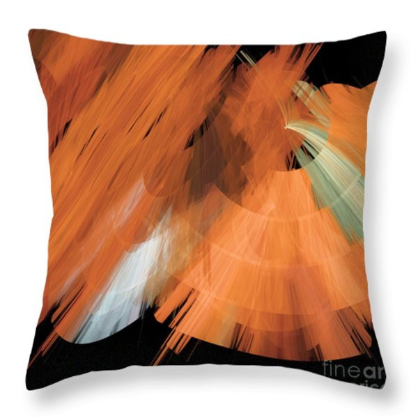 TuTu Stage Left Peach Abstract Throw Pillow by Andee Design