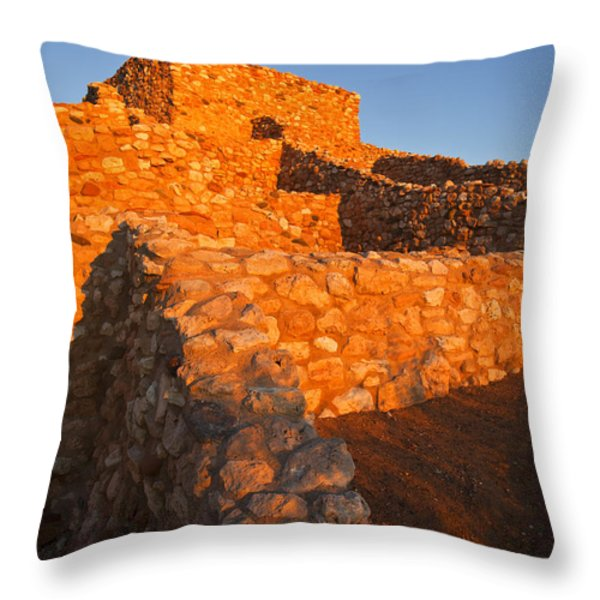 Tuzigoot Dawn Throw Pillow by Mike  Dawson