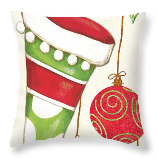 Twas The Night... Throw Pillow by Debbie DeWitt