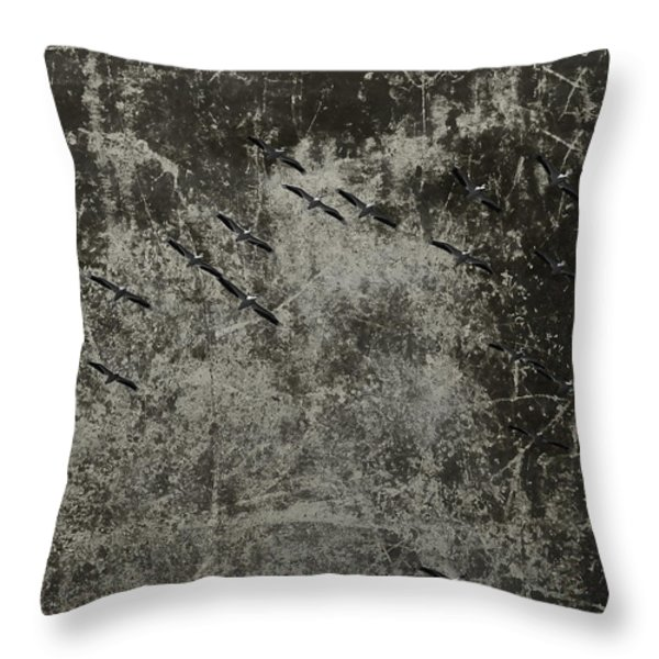 Twenty Pelicans In The Bottom Of My Boat Throw Pillow by Thomas Young