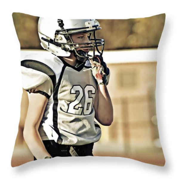 Twenty Six Throw Pillow by Susan Leggett