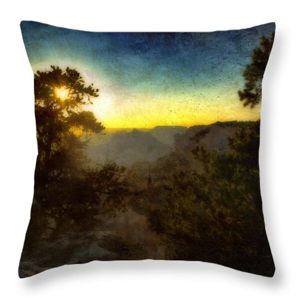 Twilight At The Canyon Throw Pillow by Ellen Heaverlo