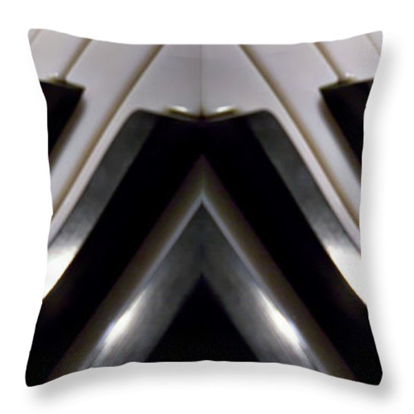Twin Keyboards Throw Pillow by M and L Creations