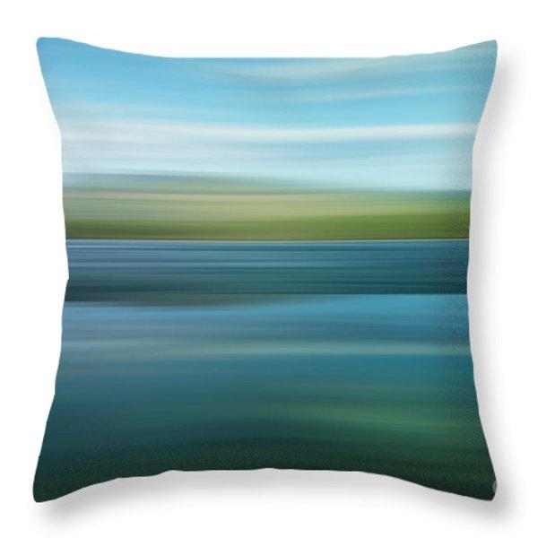 twin lakes Throw Pillow by Priska Wettstein