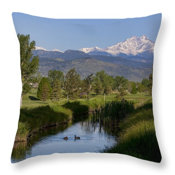 Twin Peaks View Throw Pillow by James BO  Insogna