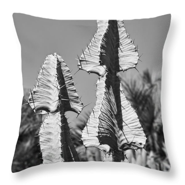 Twin Towers BW Throw Pillow by Kelley King