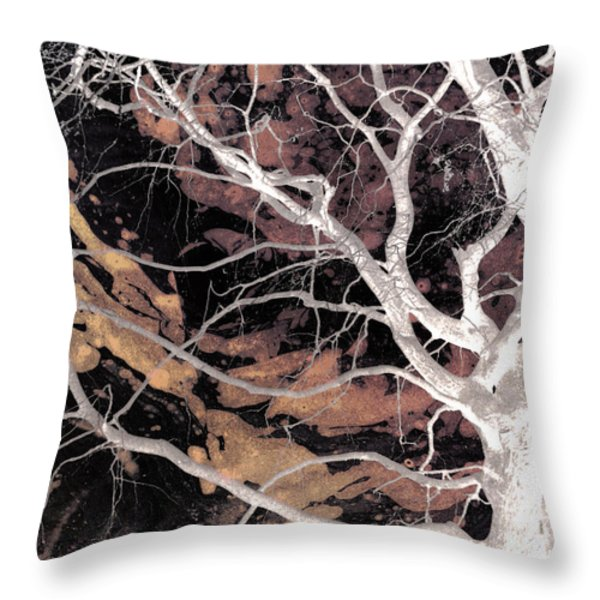 Twisted Dance - Dark Dreams Throw Pillow by Shawna  Rowe