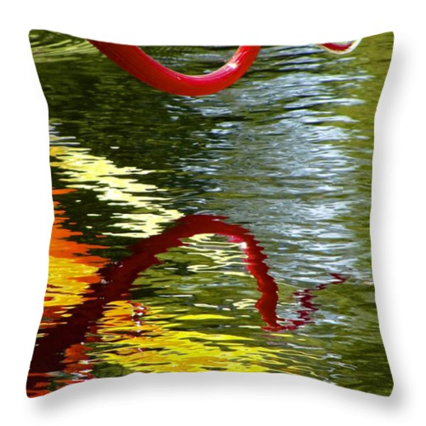 Twisted Ripples Throw Pillow by Charlie Brock
