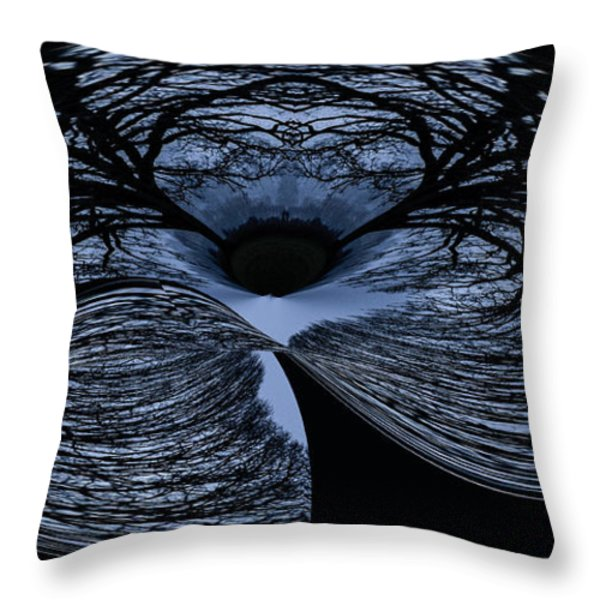 Twisted Tree Throw Pillow by Jean Noren