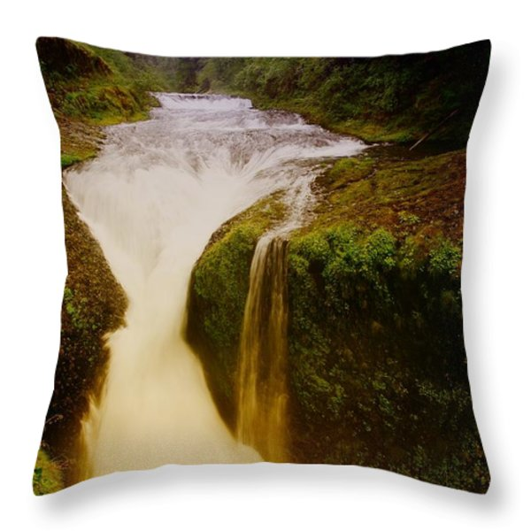 Twister Falls Throw Pillow by Jeff Swan
