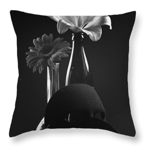 Two as One Throw Pillow by Marcio Faustino