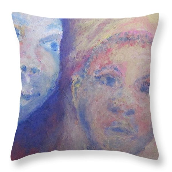 Two Faces Throw Pillow by Cherie Sexsmith