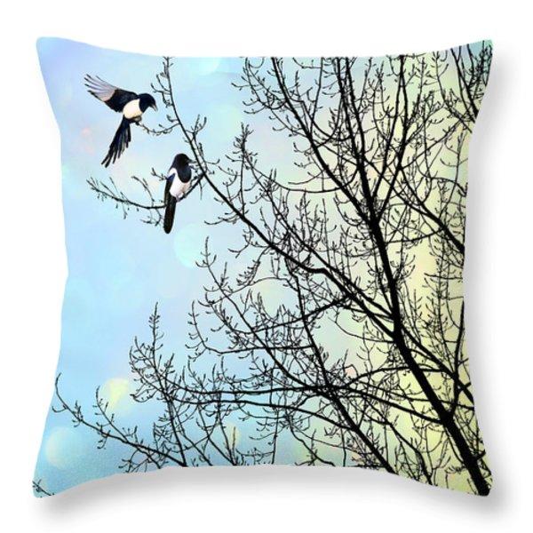 Two for Joy Throw Pillow by John Edwards