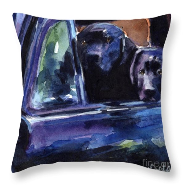 Two Into Fifty One Throw Pillow by Molly Poole