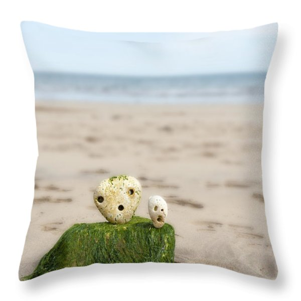Two On A Beach Throw Pillow by Svetlana Sewell