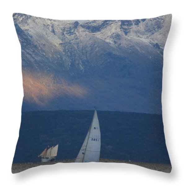 Two ships Throw Pillow by Intensivelight