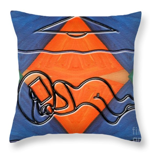 BEDROOM Throw Pillow by Patrick J Murphy