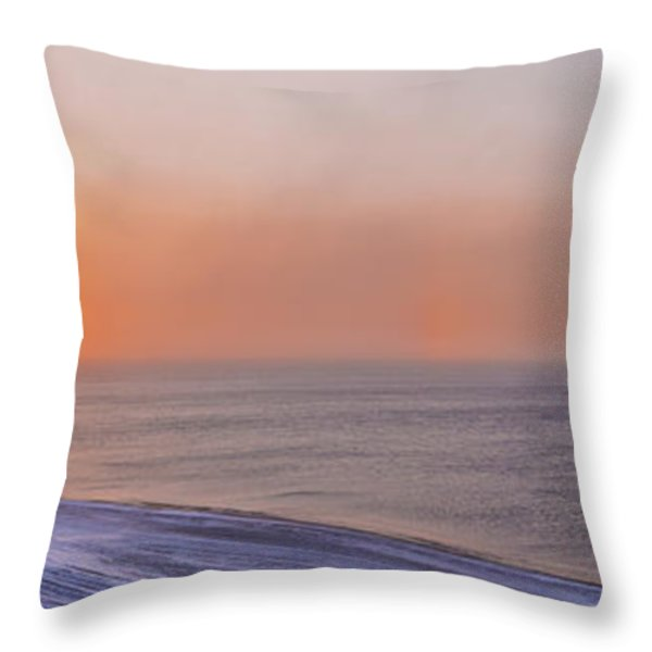 Two Sundogs Hang In The Air Over The Throw Pillow by Kevin Smith