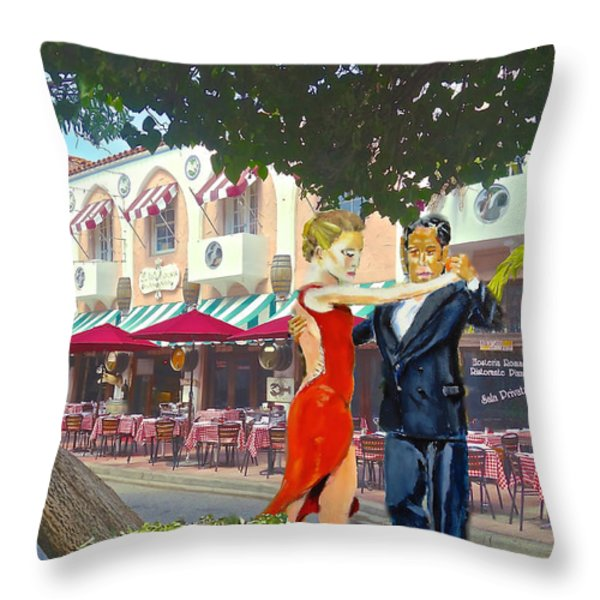 Two To Tango Throw Pillow by Judy Kay