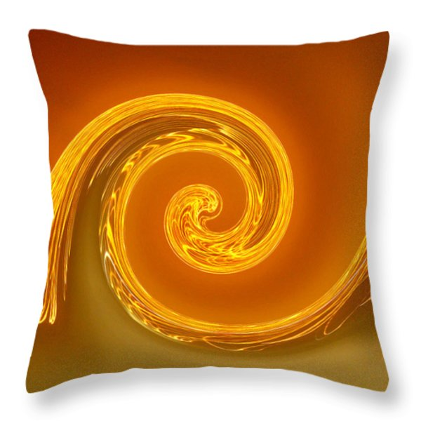 Two-toned Swirl Throw Pillow by Art Block Collections