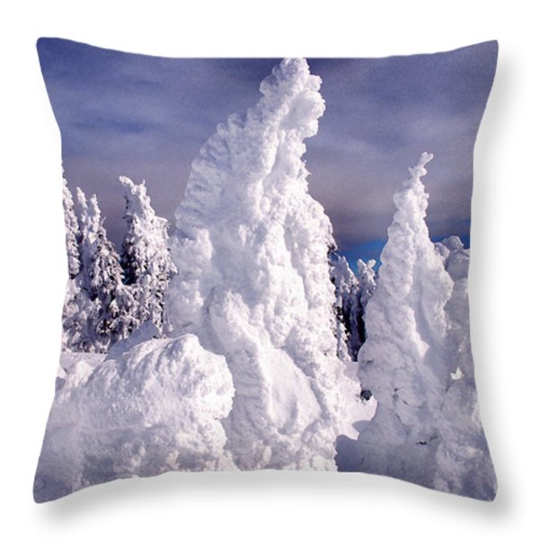Two Top Mountain Loop Trail Throw Pillow by Thomas R Fletcher