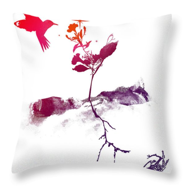 Two World Throw Pillow by Budi Kwan
