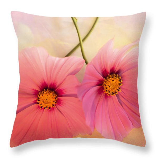 Two's Company Throw Pillow by Jan Bickerton