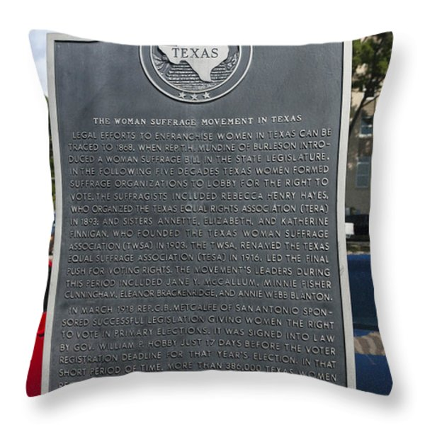 TX-15026 The Woman Suffrage Movement in Texas Throw Pillow by Jason O Watson