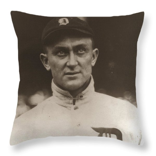Ty Cobb 1915 Throw Pillow by Unknown