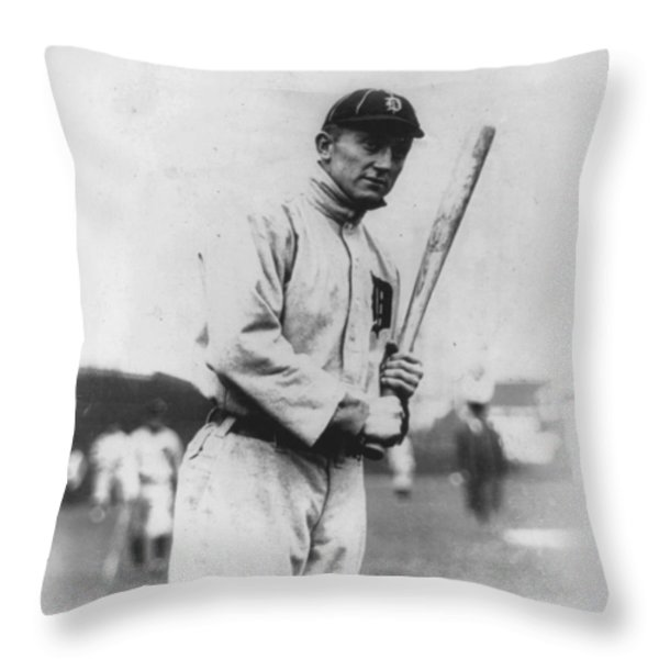Ty Cobb Throw Pillow by Unknown