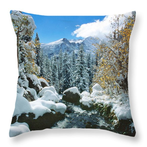 Tyndall Creek Throw Pillow by Eric Glaser