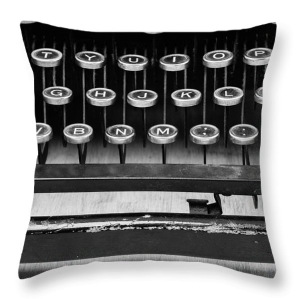 Typewriter Triptych Part 2 Throw Pillow by Edward Fielding