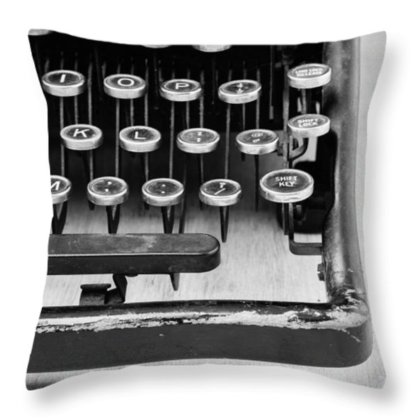 Typewriter Triptych Part 3 Throw Pillow by Edward Fielding