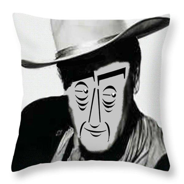 Typortraiture John Wayne Throw Pillow by Seth Weaver