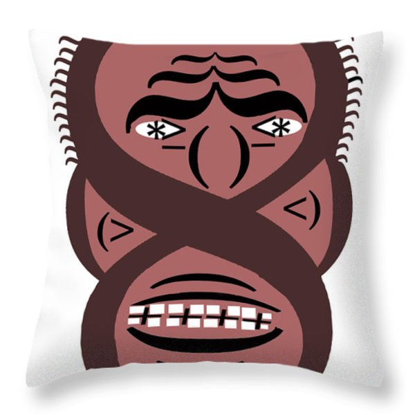 Typortraiture Obama Throw Pillow by Seth Weaver