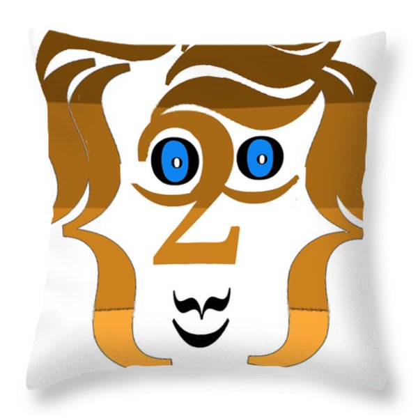 Typortraiture Paul Mccartney Throw Pillow by Seth Weaver