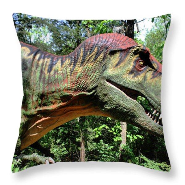 Tyrannosaurus Rex  T. Rex Throw Pillow by Kristin Elmquist