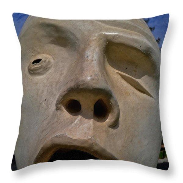 U C Davis Egghead 2 Throw Pillow by Bill Owen