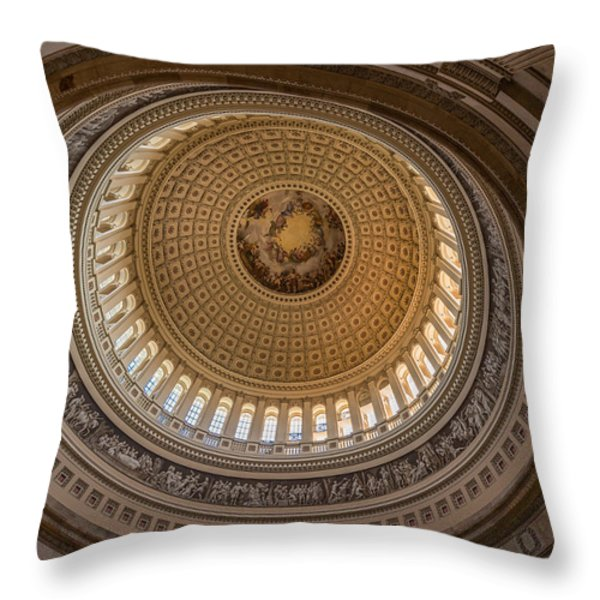 U S Capitol Rotunda Throw Pillow by Steve Gadomski