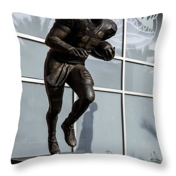 UF Heisman Winner Tim Tebow  Throw Pillow by Lynn Palmer