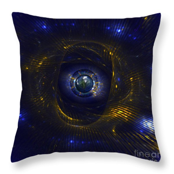 Ufo Observation Throw Pillow by Klara Acel