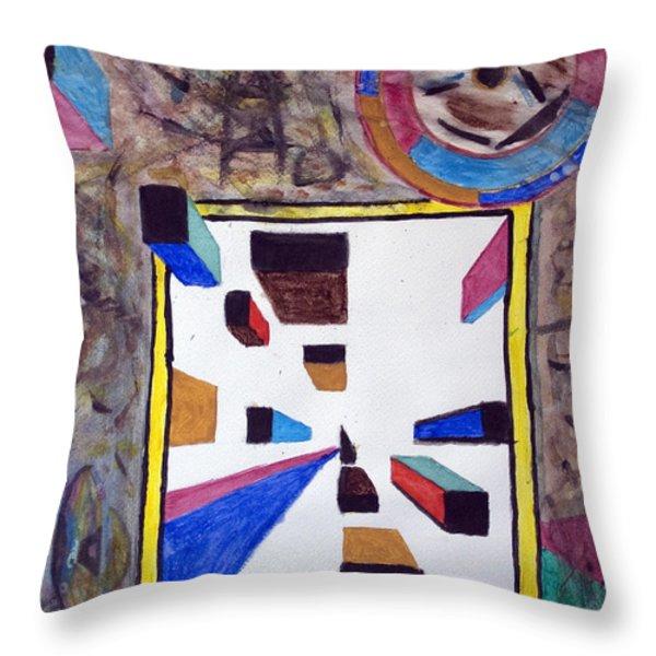 Ufo Wormhole Throw Pillow by Stormm Bradshaw