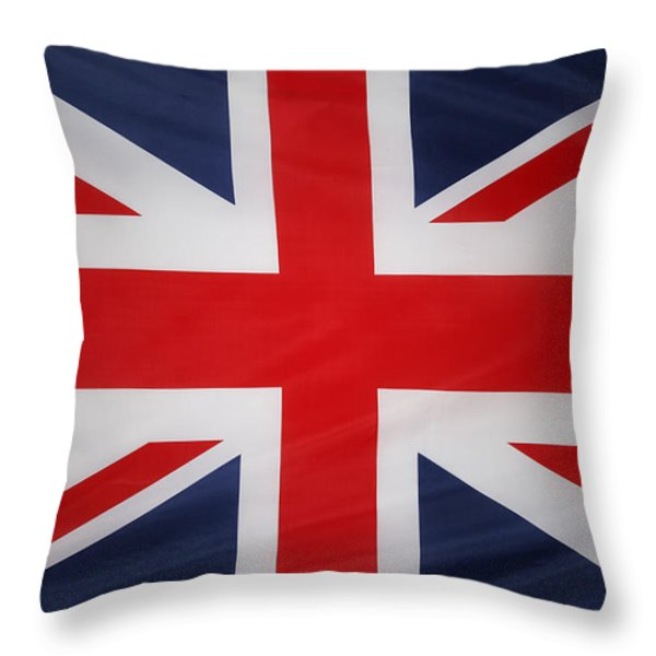 UK flag Throw Pillow by Les Cunliffe